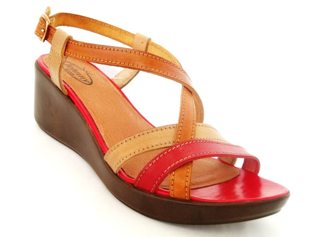 Sandale Casual Confort 838-01 rosso.taupe.cuoio
