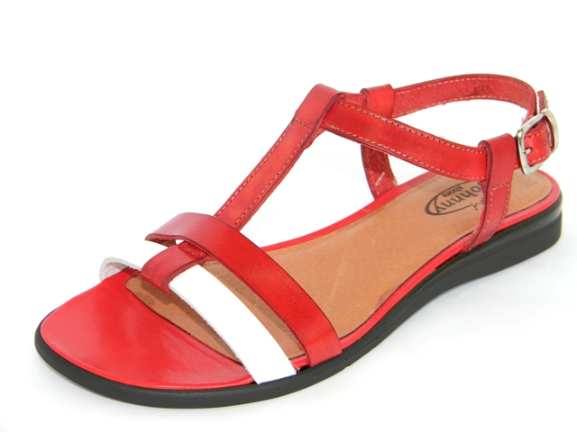 Sandale Femei Casual-Confort 952004 rosso.bianco