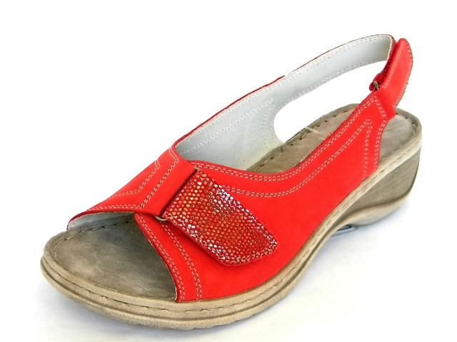 Sandale Femei Casual-Confort 3434 rosso.rosso