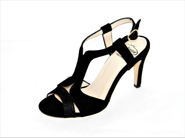 Sandale Femei Fashion Confort 8741 suede.lux black