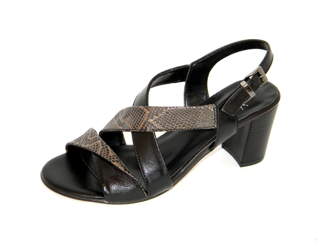 Sandale Femei Fashion Confort 36-6058 nero.nero